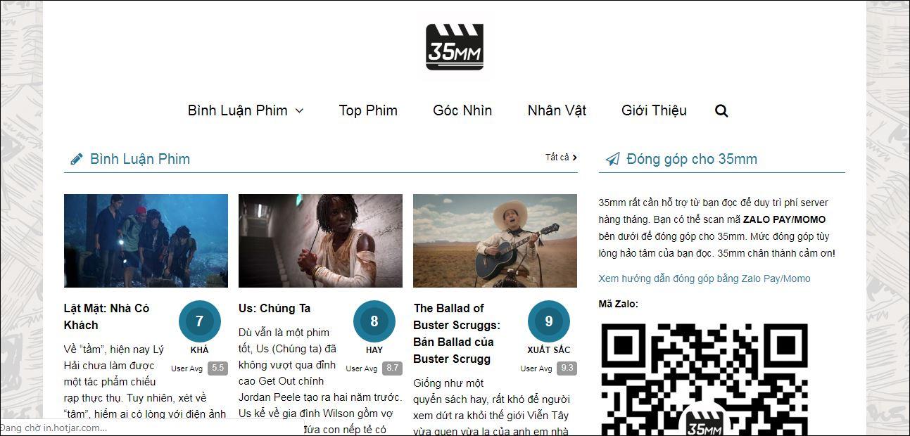 trang web đánh giá phim